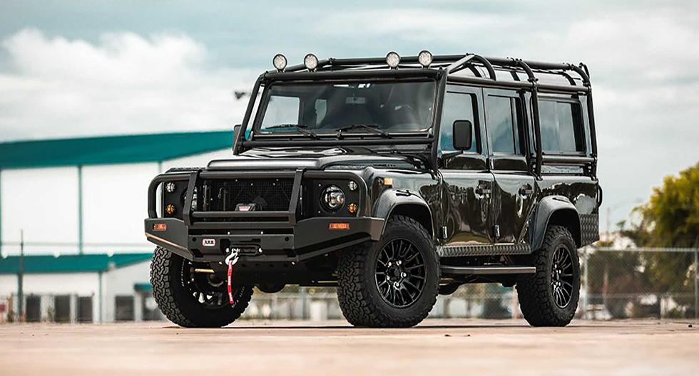 Land Rover Defender: convierten al todoterreno en un eléctrico con motor de Tesla | FOTOS