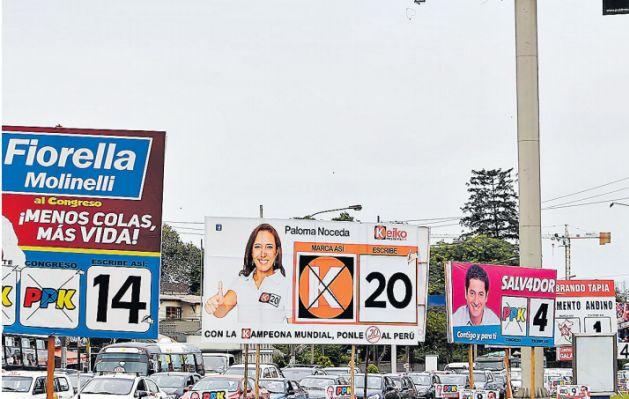 Resultado de imagen para publicidad politica PERU