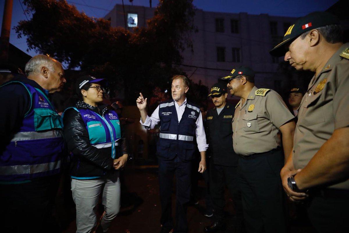 Jorge Muñoz lideró operación contra ambulantes de la Av. 28 de Julio y calles aledañas