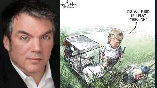 Caricaturista fue despedido tras publicar dibujo de Trump y migrantes ahogados