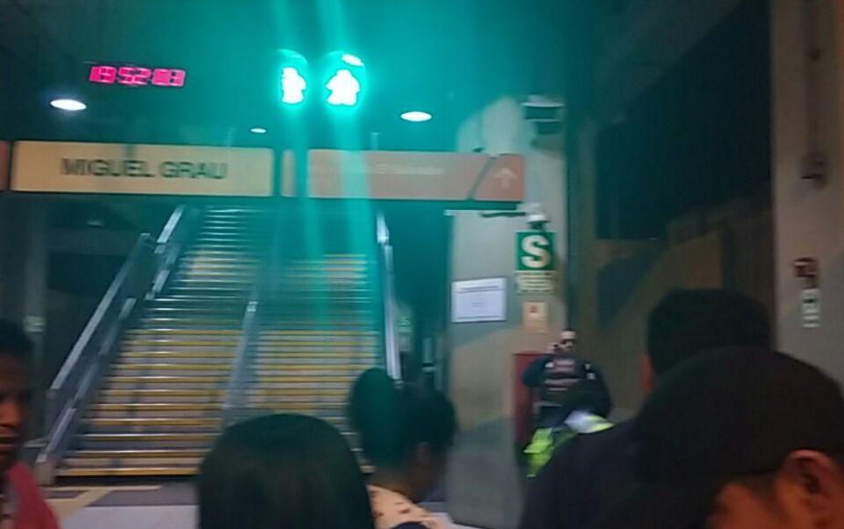 Sistema del Metro de Lima se detuvo por pérdida de suministro eléctrico