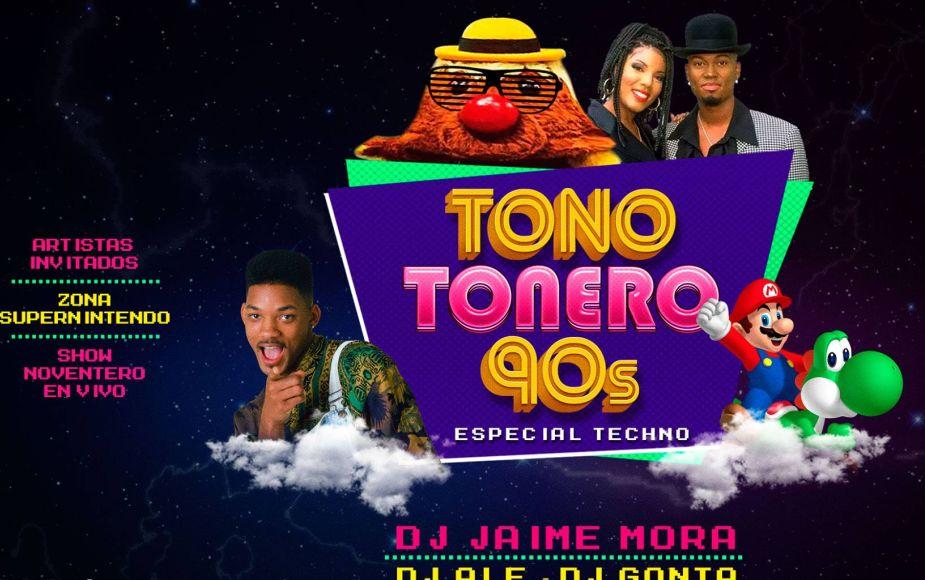 Tono Tonero 90's - Edición 2019 este fin de semana