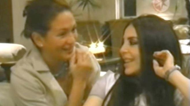 Yolanda Andrade en entrevista con Verónica Castro, en el año 2003.   Captura
