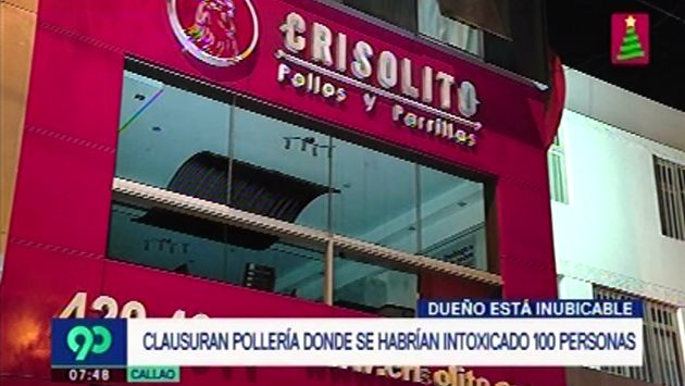 Callao: clausuran pollería donde se habrían intoxicado 100 personas