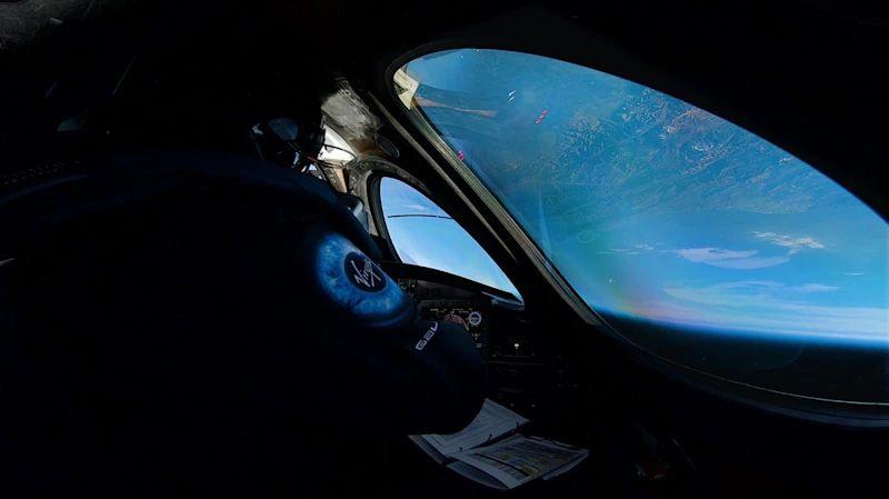 Vista de la Tierra desde la nave espacial de Virgin Galactic. (Foto: Virgin Galactic)