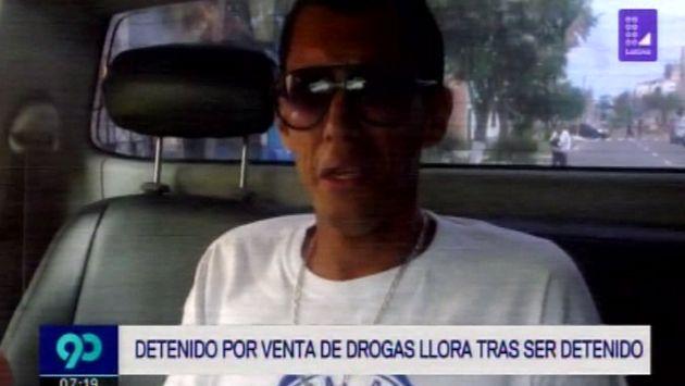 Acusado por vender drogas llora y pide disculpas pidiendo que no lo lleven preso