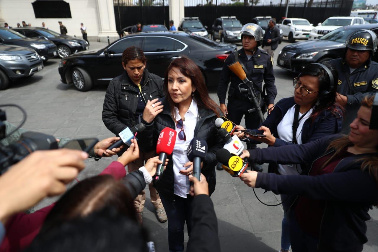 La ministra María Jara reiteró la preocupación del Ejecutivo por la elección de miembros del TC. (Foto: GEC)