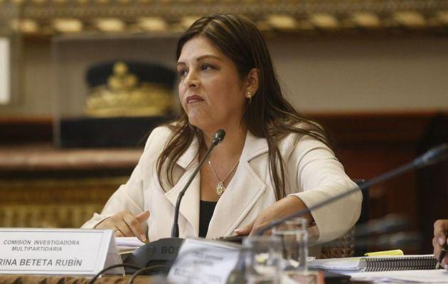 Karina Beteta: 'No voy a negar ni reconocer los chats que se están filtrando'