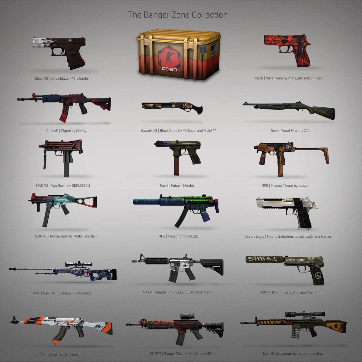 Armas para el CS:GO Danger Zone (Foto: Twitter)
