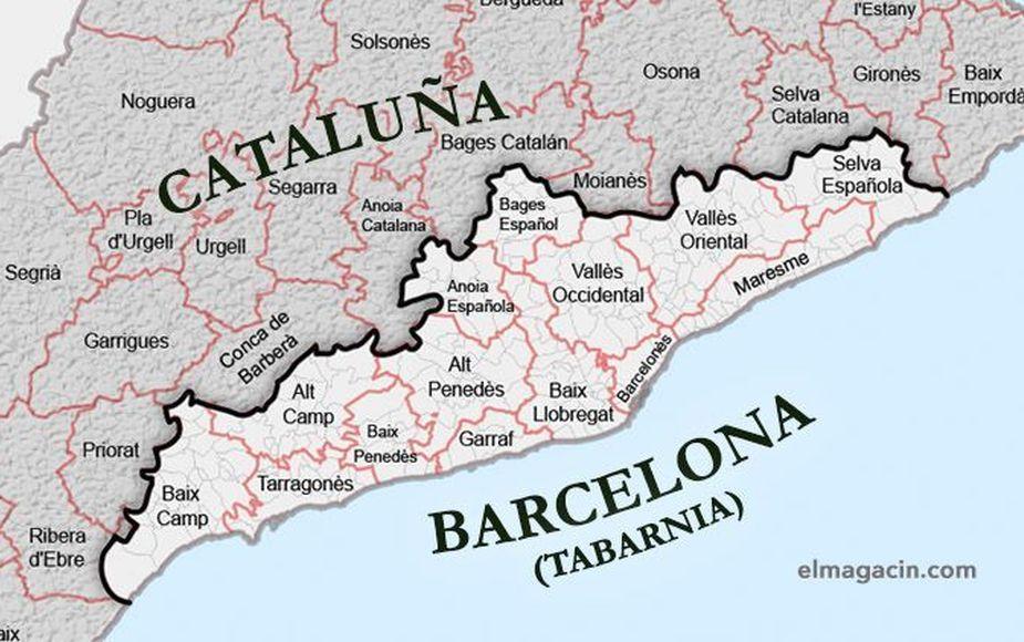 Tabarnia, región ficticia con ansias de separarse de la Cataluña independentista