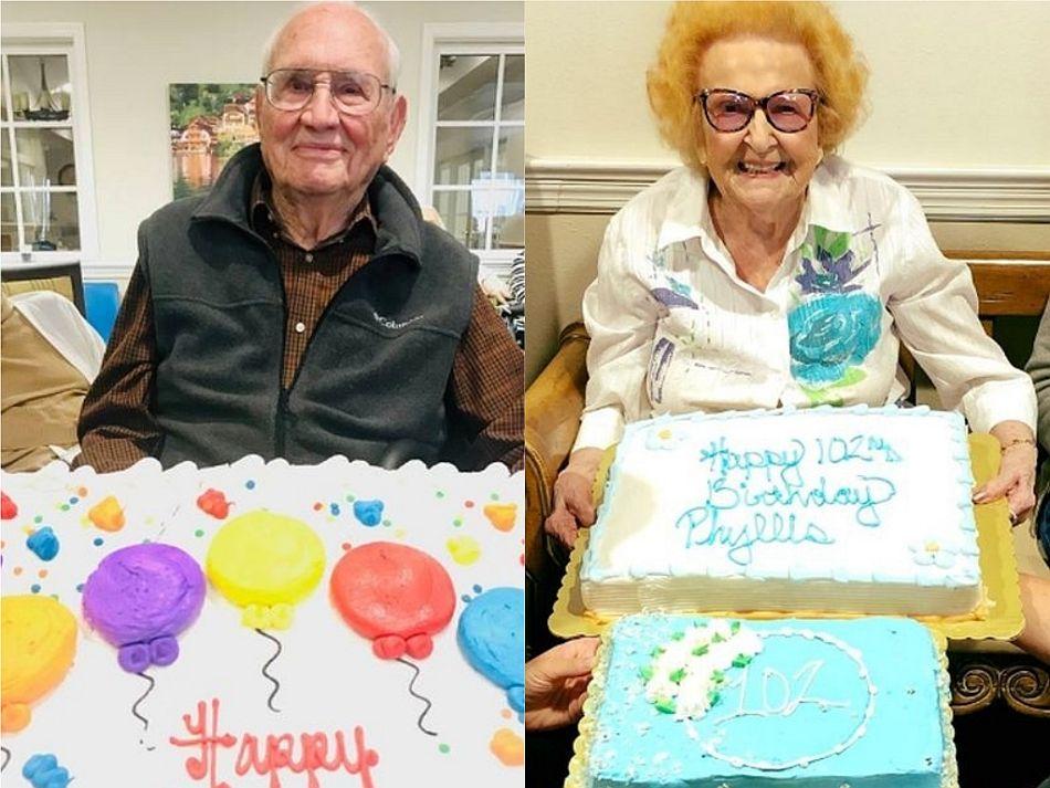 El pasado 14 de marzo, John Cook celebró su cumpleaños número 100 y su amada espera el 8 de agosto para apagar 103 velitas. (Foto: Facebook @Kingston Residence of Sylvania)