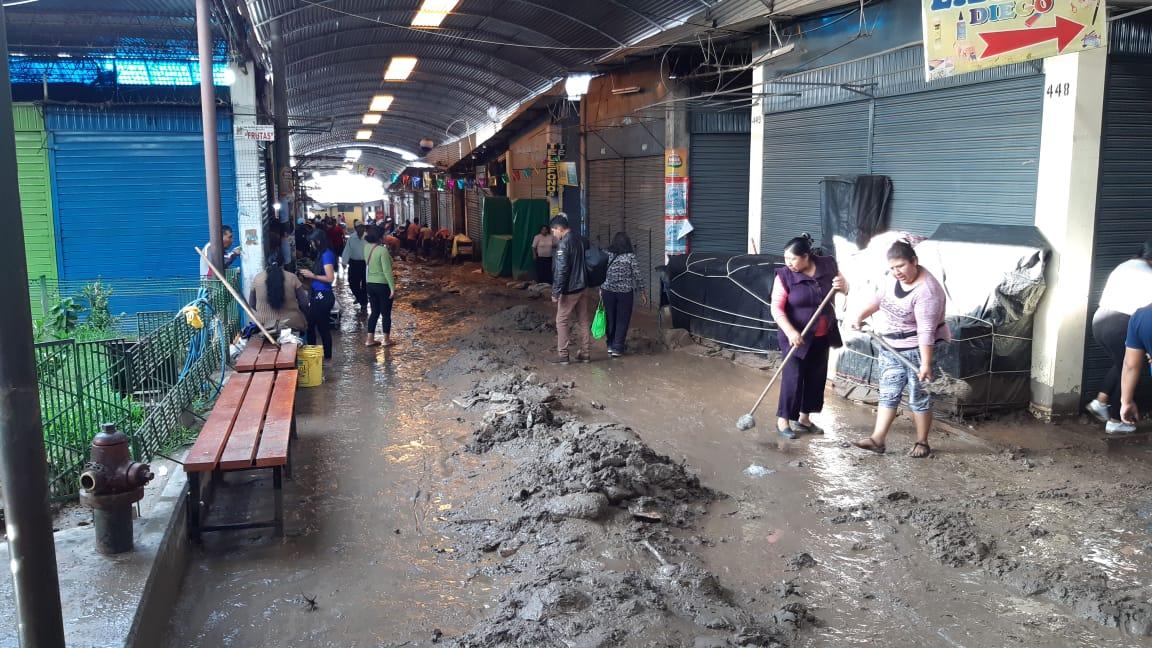 Tacna: huaico afectó mercado principal y comerciantes sufren pérdidas | FOTOS