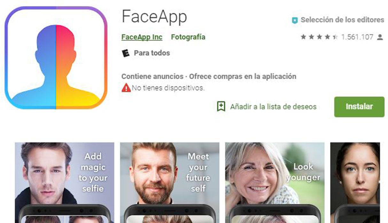 FaceApp: esta aplicación no es la única que absorbe tus datos