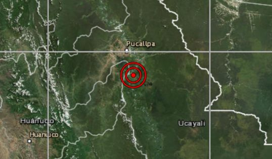 Sismo de magnitud 4,9 se registró en Ucayali, según el IGP