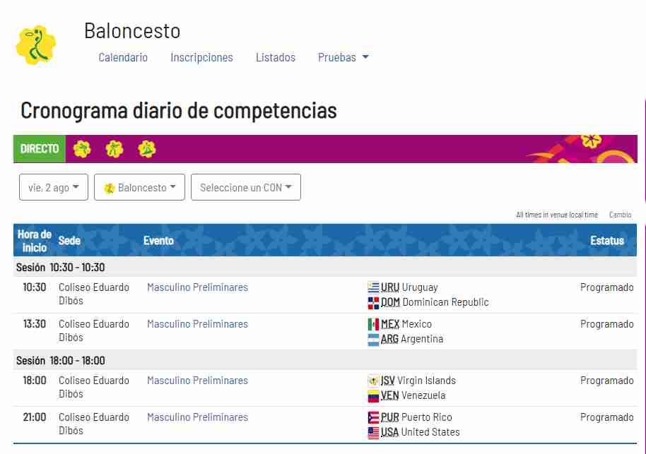 Juegos Panamericanos 2019 Calendario Futbol.Lima 2019 En Vivo Calendario Del Dia 10 De Los Juegos