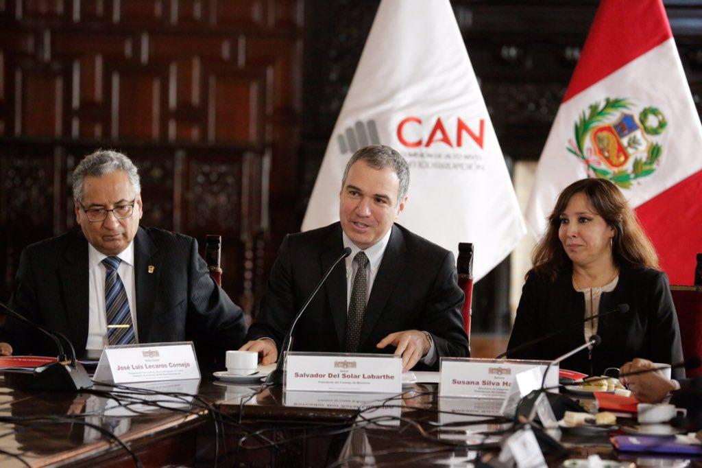 Salvador del Solar fue elegido presidente de la Comisión de Alto Nivel Anticorrupción