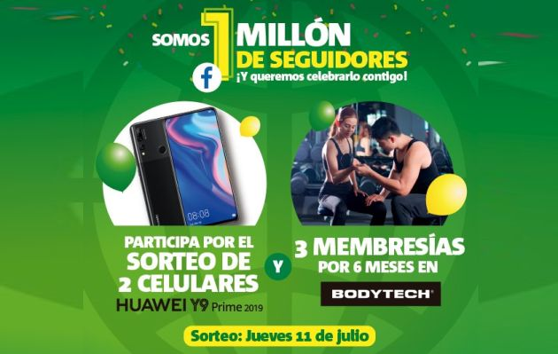Averigua aquí cómo ganar celulares Huawei y membresías Bodytech