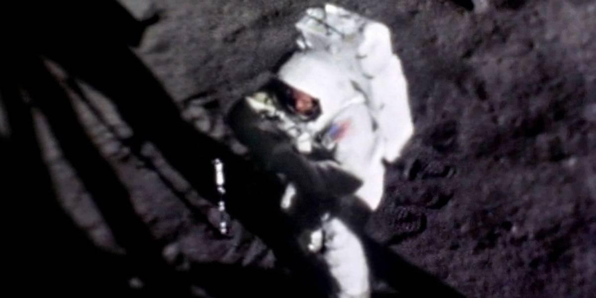La increíble imagen que muestra por primera vez el rostro de Neil Armstrong en la Luna