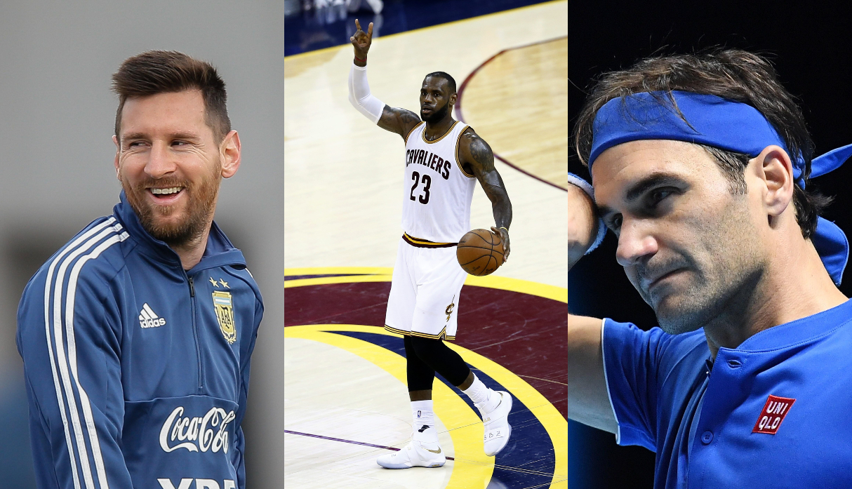 Messi, LeBron James y Federer entre los diez deportistas mejor pagados del mundo | FOTOS