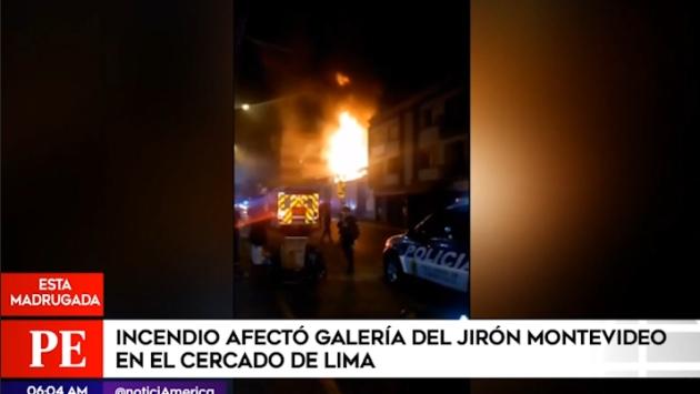 Cercado de Lima: incendio se registró en galería del jirón Montevideo y afecta stands - Diario Perú21