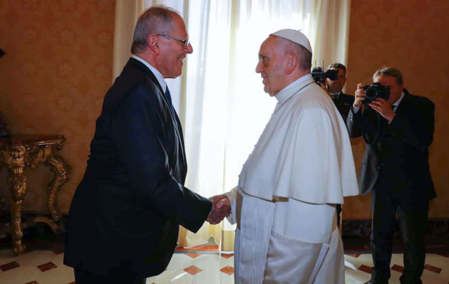 Pedro Pablo Kuczynski acompañará al Papa Francisco en Lima, Puerto Maldonado y Trujillo