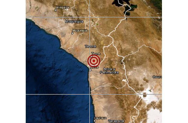 Tacna: sismo de magnitud 4 se reportó en esta noche, según IGP