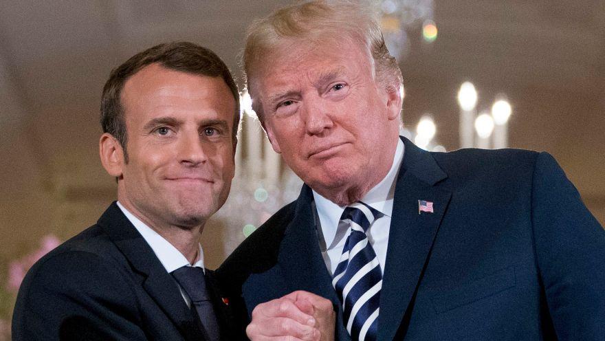 Donald Trump conversó con Macron por controversia nuclear con Irán