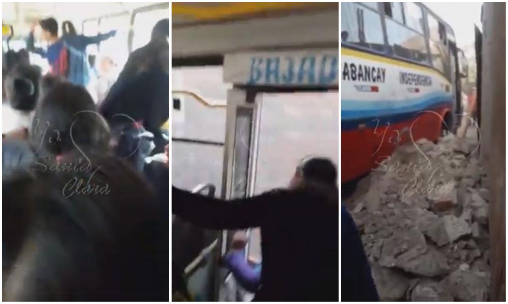 Pasajeros se lanzan de bus al que se le vaciaron los frenos en Ate | VIDEO