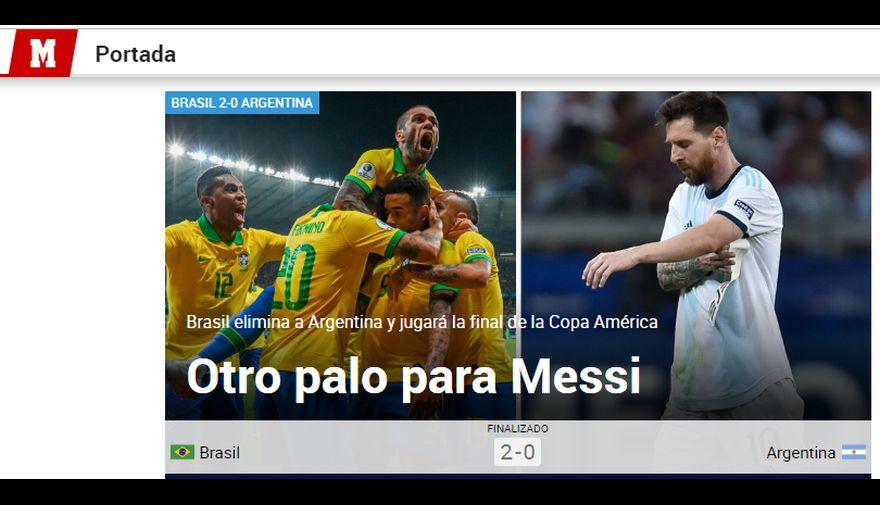 Argentina vs. Brasil: así informó la prensa tras el adiós de 'Albiceleste'