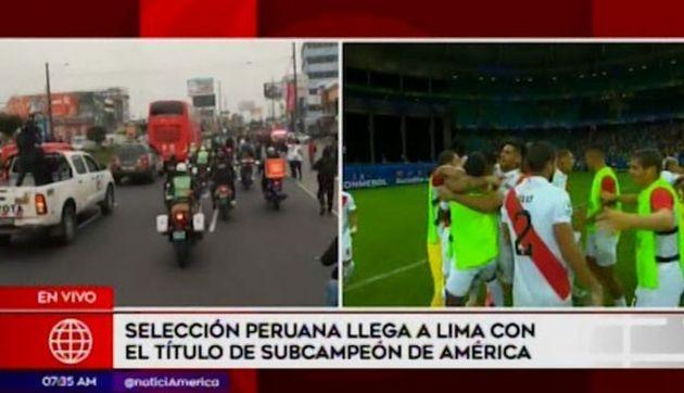 Hinchas acompañaron en caravana a la selección peruana en su recorrido hacia la Videna | VIDEO