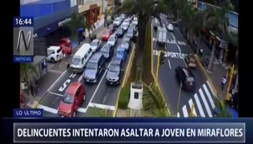 Miraflores: así fue la balacera ocurrida esta tarde en la Av. José Pardo | VIDEO