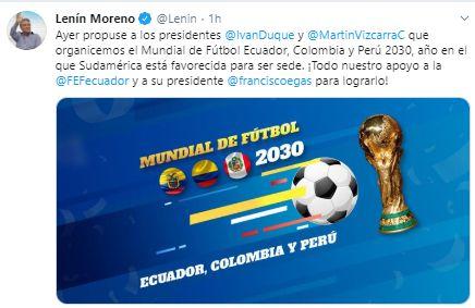 La propuesta del presidente de Ecuador para la organización del Mundial 2030.