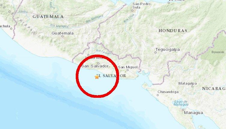 El Salvador: sismo de 6,8 grados se registró la madrugada de este jueves