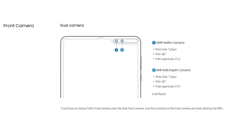 Samsung Galaxy Fold - Especificaciones 3