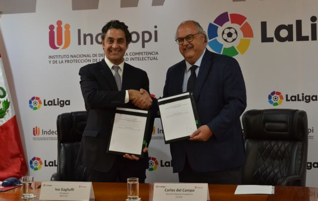 LaLiga e Indecopi firman convenio para luchar contra la piratería en el entorno digital
