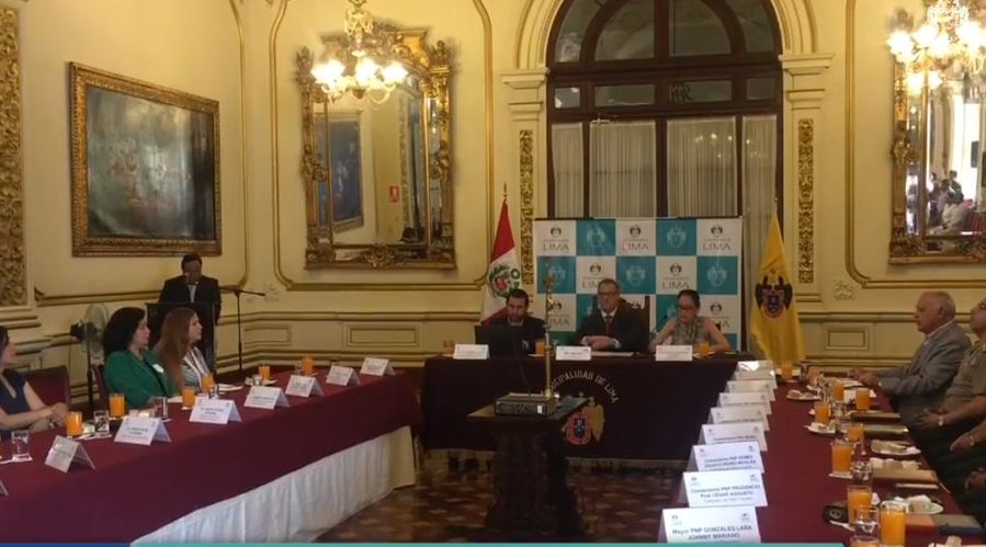 Jorge Muñoz presidió Comité Distrital de Seguridad Ciudadana
