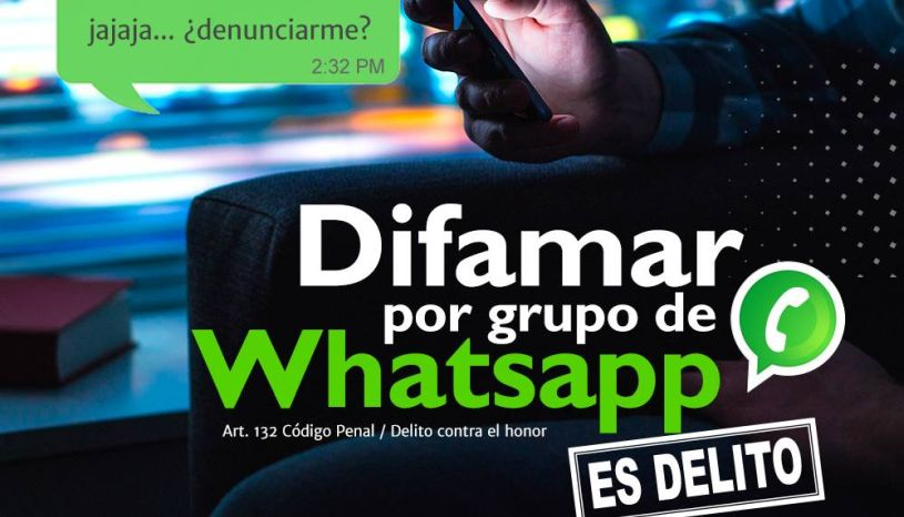 Poder Judicial advirtió que difamar a través de WhatsApp se castiga hasta con 3 años de cárcel