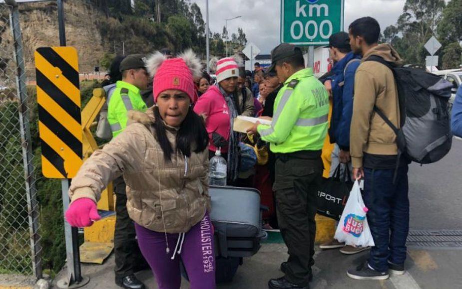 Al menos 64 mil venezolanos ingresaron a Ecuador en lo que va de 2018