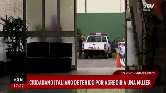 Miraflores: capturan a italiano acusado de propinar golpiza a su pareja embarazada