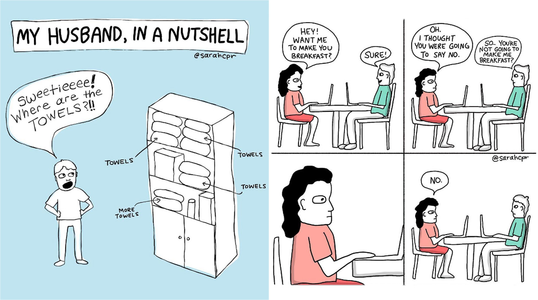 La Realidad De La Vida En Pareja En Divertidos Dibujos El