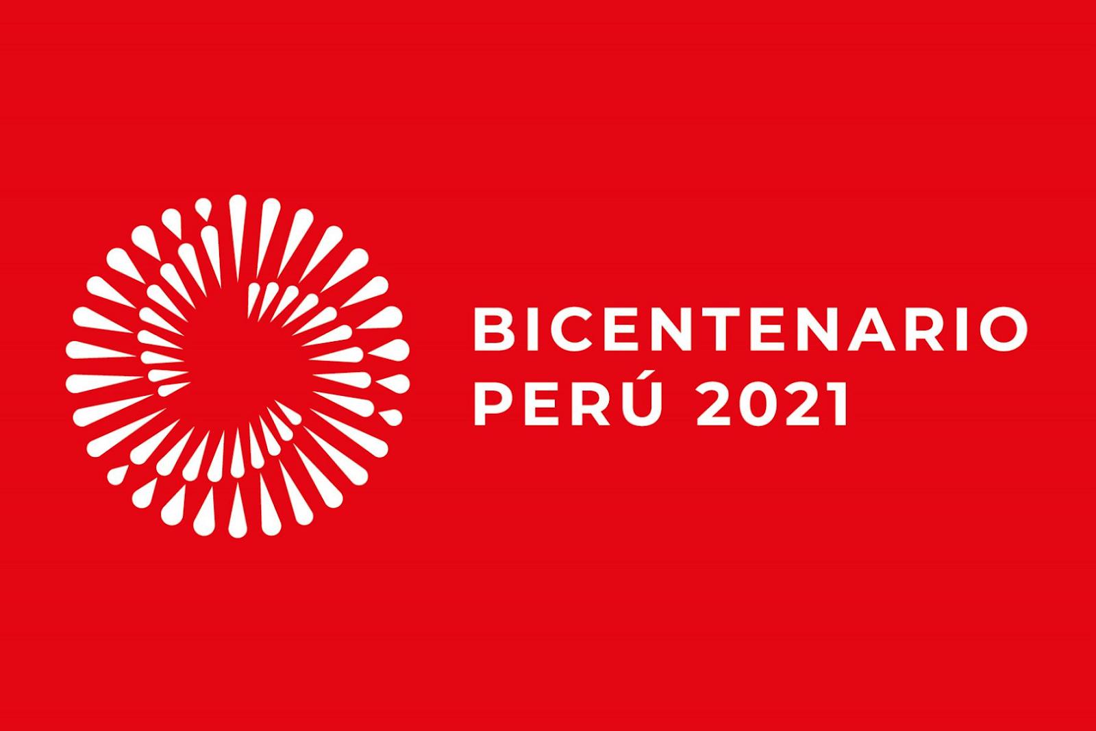 Logotipo del Bicentenario del Perú.