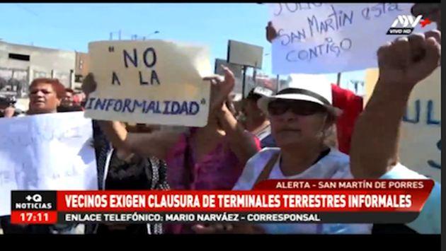 Tragedia en Fiori: un grupo de vecinos de San Martín de Porres exige cierre de terminales informales
