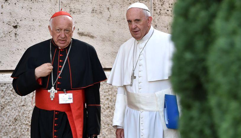 Papa Francisco acepta renuncia del cardenal chileno Ezzati, imputado por encubrimiento