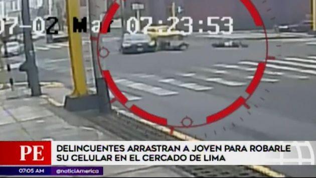 Cercado de Lima: conductor embiste a ladrones de celulares cuando huían y frustró robo | VIDEO