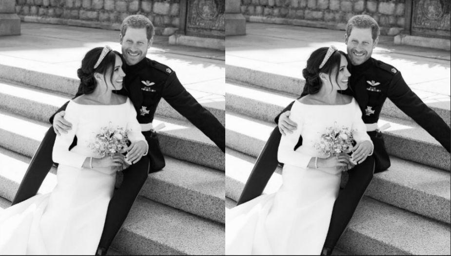 Fotos oficiales de la boda real entre el príncipe Harry y Meghan Markle (Twitter @RoyalFamily)