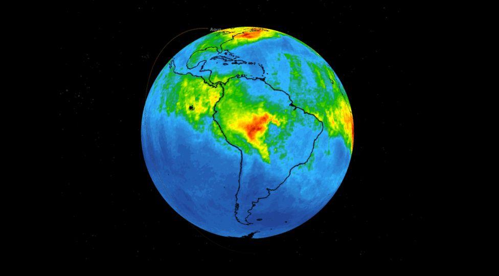 En el Amazonas los niveles de CO están llegando a cifras muy por encima de lo que se considera habitual según un mapa recientemente publicado por la NASA