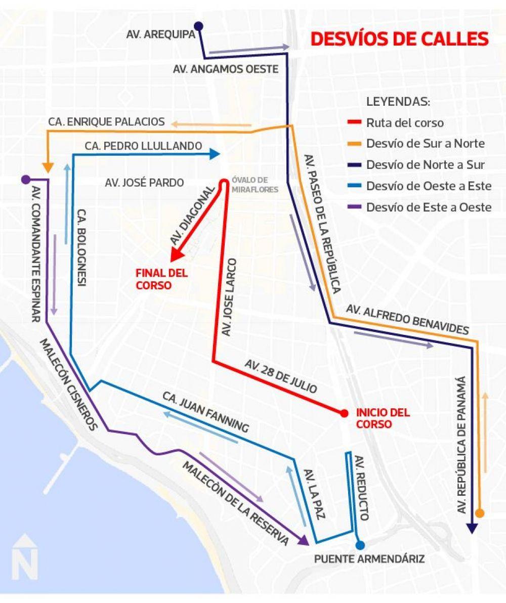 Así se vive el tradicional Corso Wong por Fiestas Patrias en las calles de Miraflores. (El Comercio)