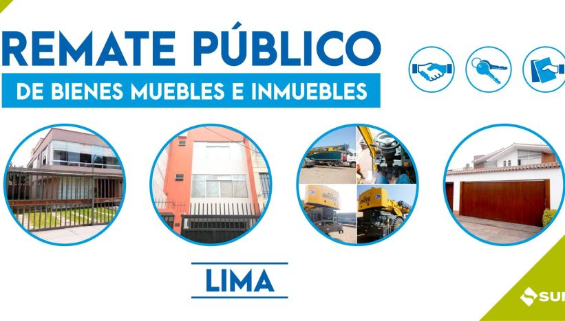 Sunat rematará inmuebles ubicados en diversas zonas de Lima