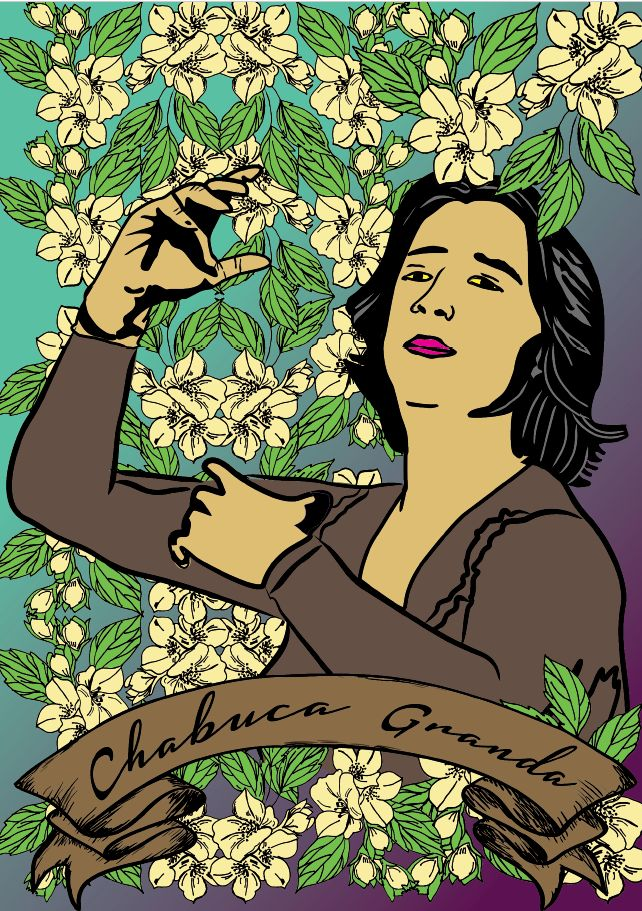 Chabuca Granda, dibujada por Amapolay Manufacturas Auutónomas(Difusión).