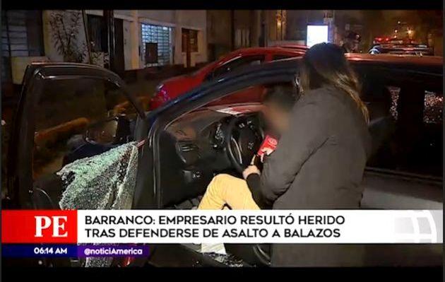 Empresario resultó herido tras enfrentarse a disparos contra delincuentes en Barranco | VIDEO